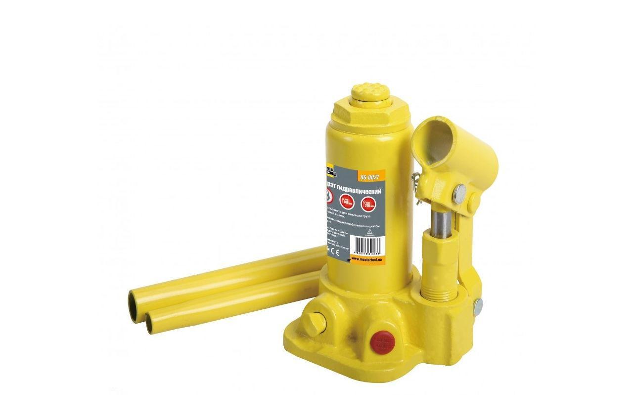 Домкрат гидравлический Mastertool - бутылочный 2 т x 276 мм (в кейсе) (86-1021)