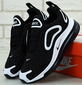 Мужские кроссовки Nike Air Max 720 Black/White (Найк Аир Макс 720)