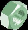 Гайка М42х3 шестигранная метрическая с мелким шагом резьбы, сталь, кл. пр. 8, ЦО (DIN 934)