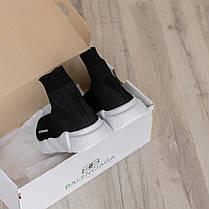 Стильные кроссовки в стиле Balenciaga Speed Trainer Black/White (36 - 45 размеры), фото 3