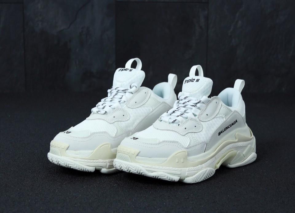 Женские кроссовки в стиле Balenciaga Triple S White (36 - 45 размеры)