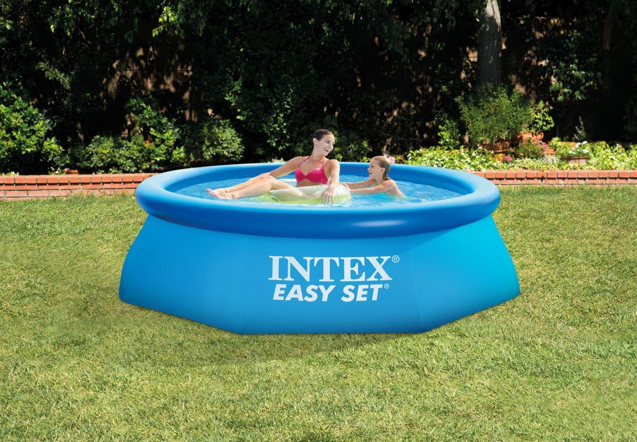 Intex Бассейн наливн. 28112 NP  фильтр-насос, размером 244х76см, объём: 2420л