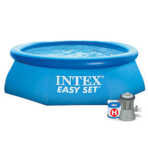 Intex Бассейн наливн. 28112 NP  фильтр-насос, размером 244х76см, объём: 2420л, фото 2