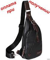 3c099f46b392 Мужская чоловіча спортивная кожаная сумка барсетка рюкзак через плечо  бананка NEW