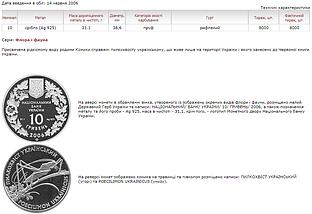 Пилкохвіст український Срібна монета 10 гривень унція срібла 31,1 грам, фото 3