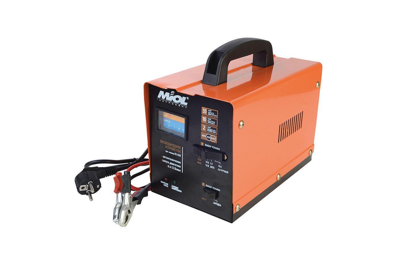 Пускозарядное устройство Miol - 6 - 12 В, 100 А-ч, 140 Вт (82-020)