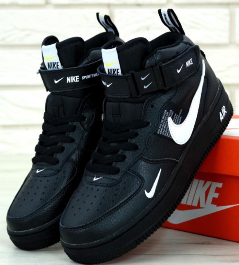 Мужские Кроссовки Nike Air Force 1 Mid 07 LV8 Utility Black