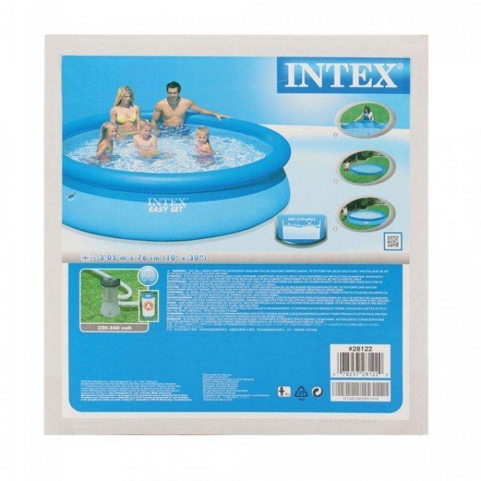 Intex Бассейн наливн. 28122 NP фильтр-насос, размером 305х76см, объём: 3854л