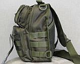 Тактическая - штурмовая универсальная сумка на 8-9 литров с системой M.O.L.L.E Олива (097-olive), фото 2