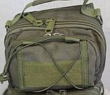 Тактическая - штурмовая универсальная сумка на 8-9 литров с системой M.O.L.L.E Олива (097-olive), фото 4