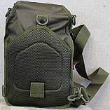 Тактическая - штурмовая универсальная сумка на 8-9 литров с системой M.O.L.L.E Олива (097-olive), фото 7