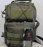 Тактическая - штурмовая универсальная сумка на 8-9 литров с системой M.O.L.L.E Олива (097-olive), фото 8