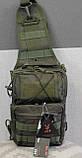 Тактическая - штурмовая универсальная сумка на 8-9 литров с системой M.O.L.L.E Олива (097-olive), фото 9