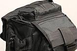 Сумка плечевая универсальная большая, тактическая и туристическая сумка с системой M.O.L.L.E Black (860-black), фото 3