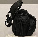 Сумка плечевая универсальная большая, тактическая и туристическая сумка с системой M.O.L.L.E Black (860-black), фото 7