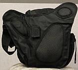 Сумка плечевая универсальная большая, тактическая и туристическая сумка с системой M.O.L.L.E Black (860-black), фото 8