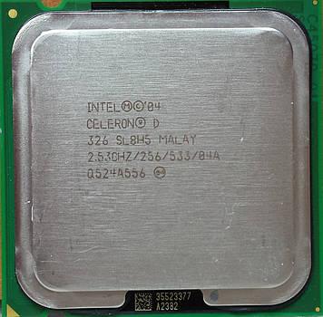 Процессор Intel Celeron D 326 2.53GHz/256/533 (SL8H5) s775, tray
