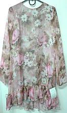 Плаття Моналіза ПЛ-38, 128 квіти трикотаж-шифон