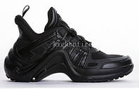 "Кроссовки Louis Vuitton Sneakers ""Triple Black"" - ""Черные"" (Копия ААА+)"