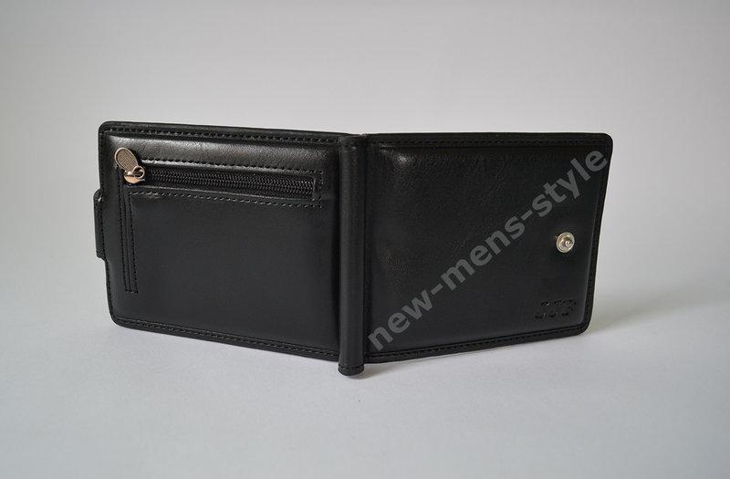 0935bfea8e75 Мужской кожаный шкіряний кошелек портмоне клипса зажим для денег замок