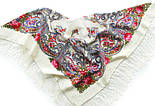 Милый друг 1345-1, павлопосадский платок шерстяной  с шелковой бахромой, фото 4