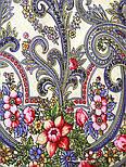 Милый друг 1345-1, павлопосадский платок шерстяной  с шелковой бахромой, фото 5