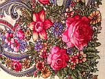 Милый друг 1345-1, павлопосадский платок шерстяной  с шелковой бахромой, фото 8