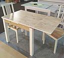 Стол обеденный Марсель 90(+35+35)*70  белый - Нордик Пайн, фото 4