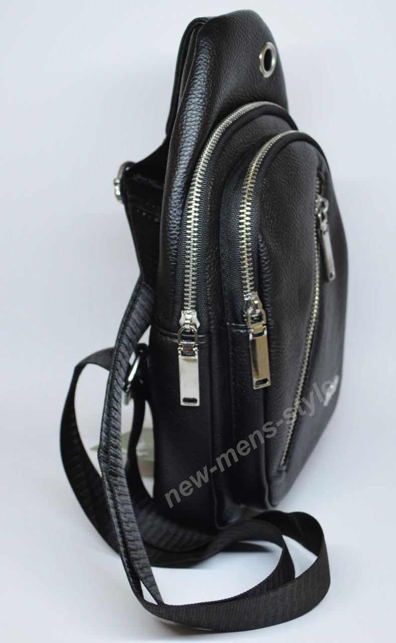 be263ce2625b ... Мужская спортивная кожаная сумка слинг рюкзак бананка через плечо Jeep,  ...