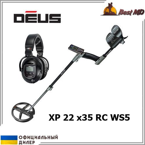 Металлоискатель XP Deus 22 x35 RC WS5