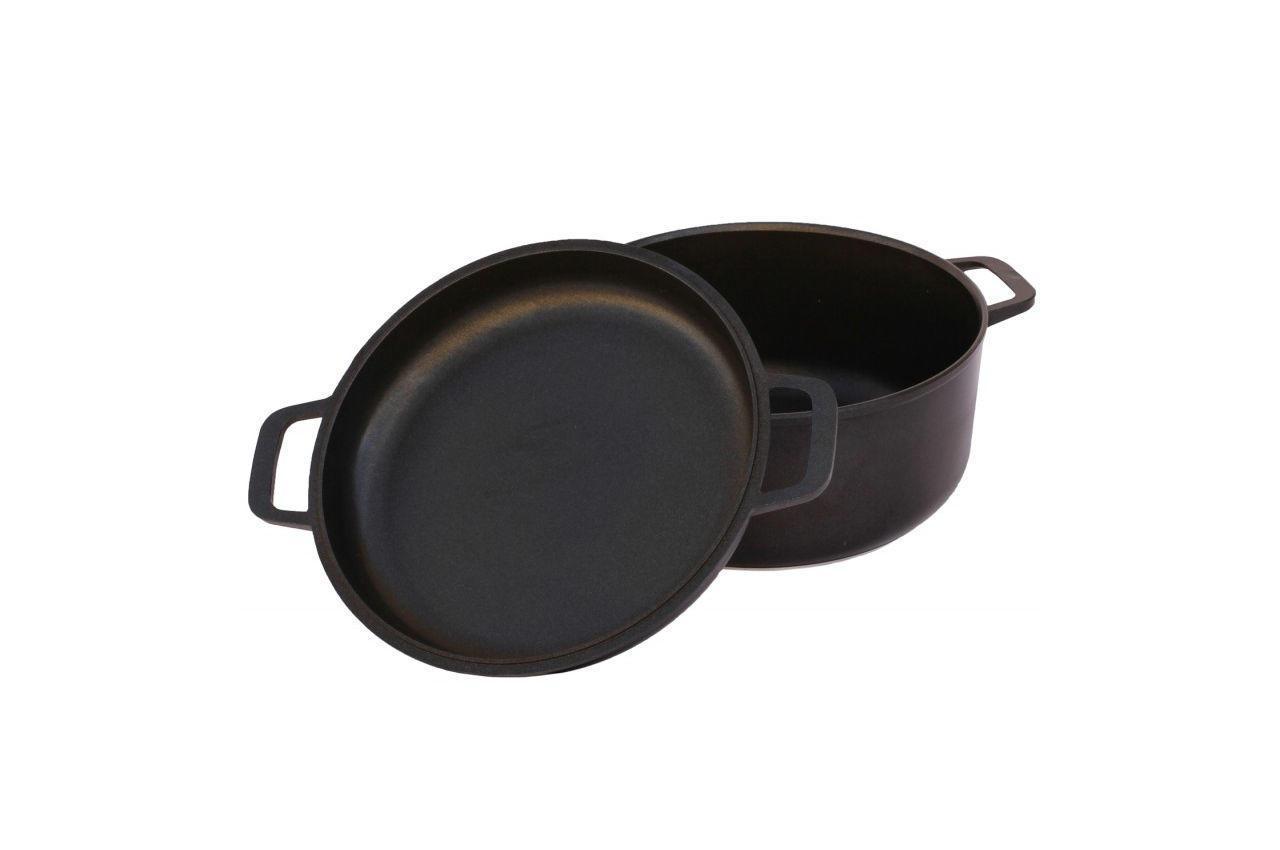 Кастрюля антипригарная Биол - 280 х 171 мм х 7 л, с крышкой-сковородкой