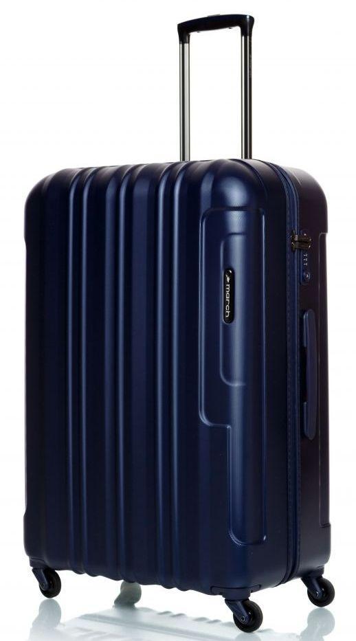 Чемодан гигант пластиковый March Cosmopolitan 5001/14 121 л, синий