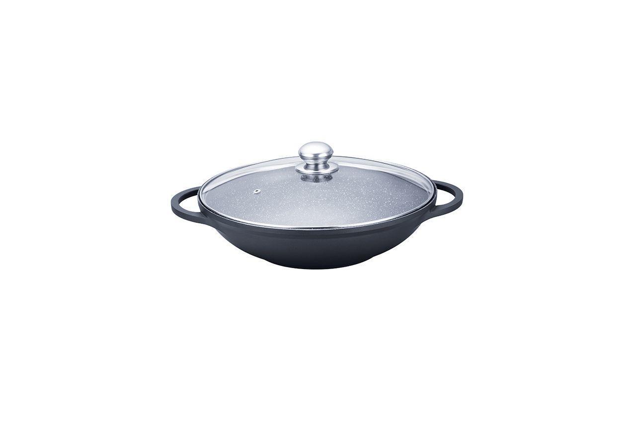 Сковорода WOK антипригарна Maestro - 320 мм, з кришкою MR-4832