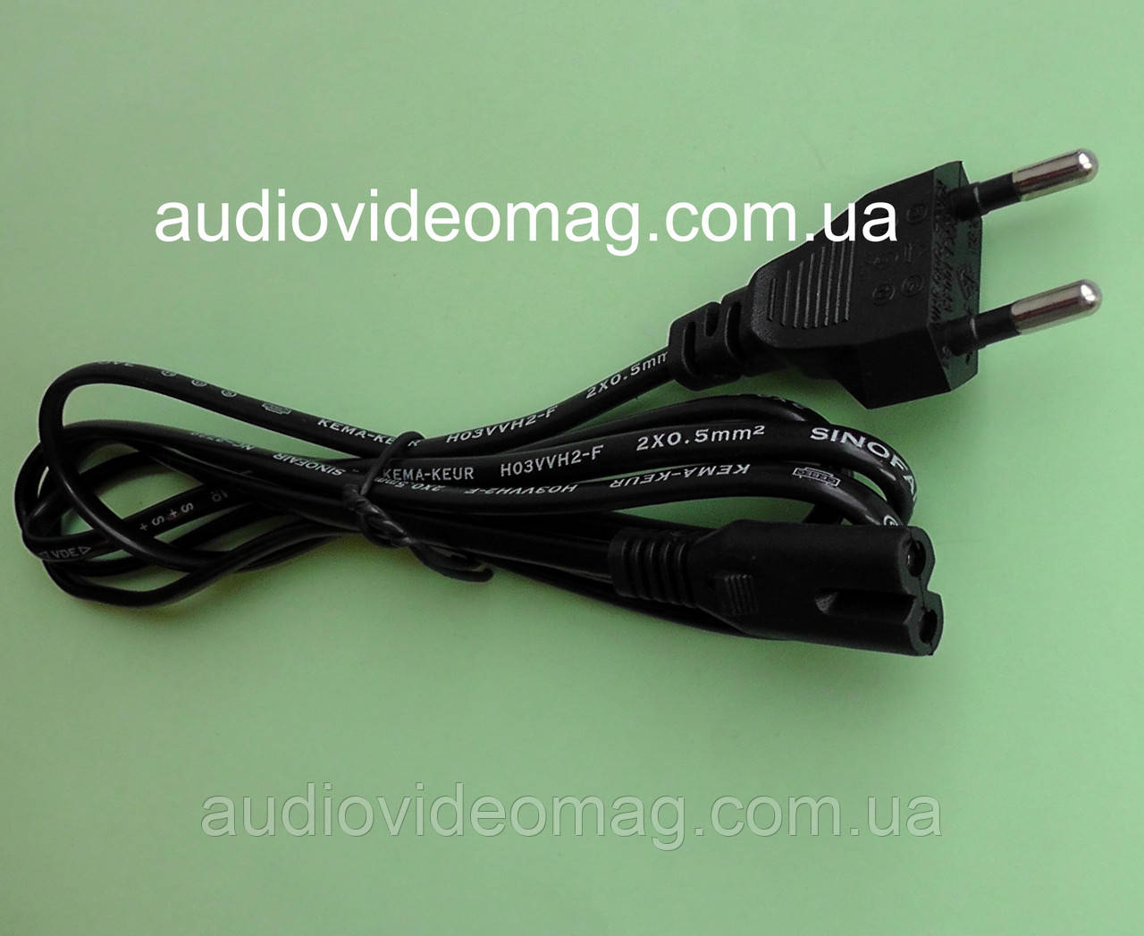 Шнур сетевой (2 pin) двухпиновый 220V для портативной техники, 1,5 м