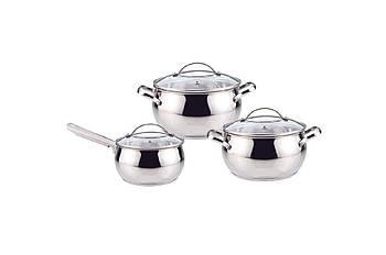 Набор посуды нержавеющий Maestro - 4 х 5 х 1,5 л, (3 шт.) MR-3501-6L