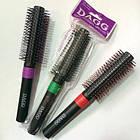 Щітка-брашінг для укладання волосся кругла пластикова DAGG 8517 В Зелена, фото 2
