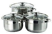 Набор посуды нержавеющий Astor - 2,5 x 3,6 x 4,7 л (3 шт.)