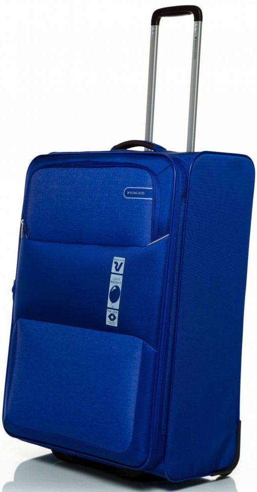 Тканевый гигантский чемодан Roncato Reef 416601 03, 103/113л. синий
