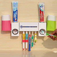 Настінний набір для ванної (уф стерилізатор для зубних щіток + дозатор для пасти)