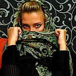 Морозко 23-10, павлопосадский вовняну хустку з вовняної бахромою, фото 4