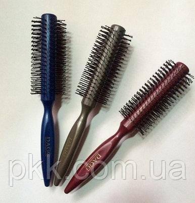 Щітка-брашинг для укладання волосся кругла пластикова з литою ручкою DAGG 8515 Красная