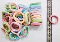 Гумки для волосся з мікрофібри середні ЗЕБРА, діаметр 3,8 см, упаковка 50 шт. (Калуш, дуже гарна якість), фото 1