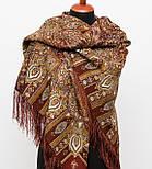 Садко 598-56, павлопосадский платок шерстяной с шелковой бахромой, фото 4