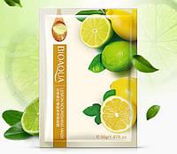 Маска-салфетка для лица питательная с лимоном BIOAQUA Lemon Nourishing Mask (30г)