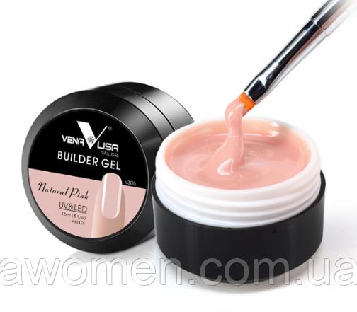 Камуфляжный гель VENALISA для наращивания и моделирования ногтей № 306 (розовый)