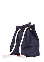 Джинсовый рюкзак на завязках, фото 2