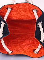 Джинсовый рюкзак на завязках, фото 3