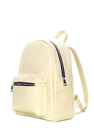Желтый кожаный рюкзак POOLPARTY Xs, фото 2