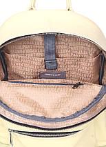 Желтый кожаный рюкзак POOLPARTY Xs, фото 3