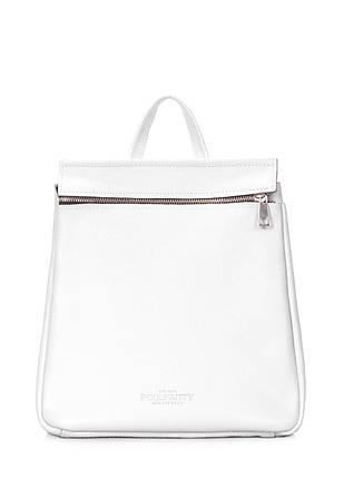Кожаный белый рюкзак POOLPARTY Venice, фото 2